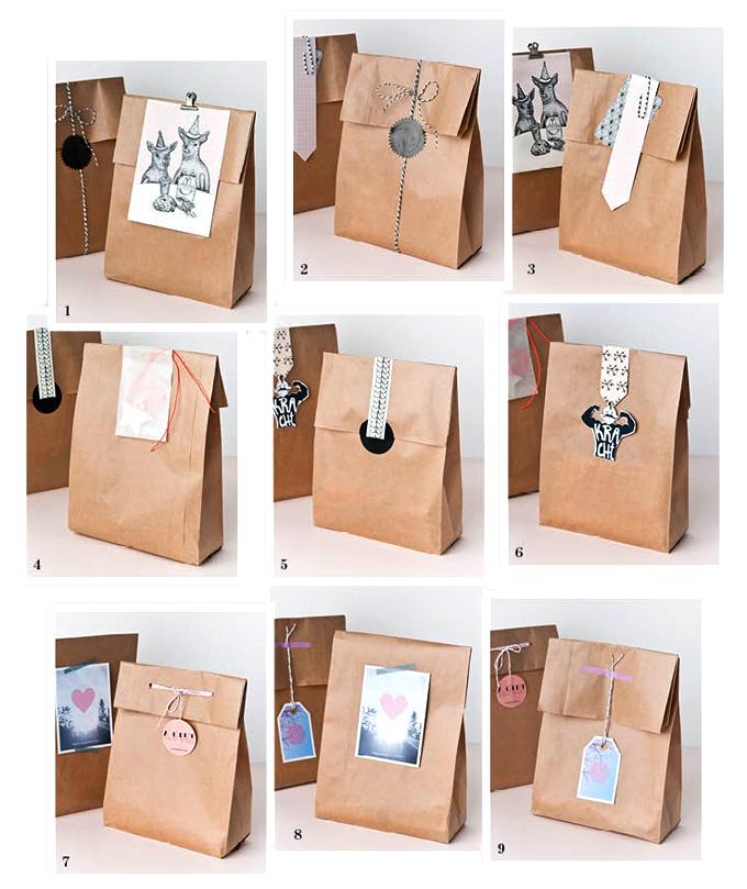 snel inpakken papieren cadeauzakken happymakersblog