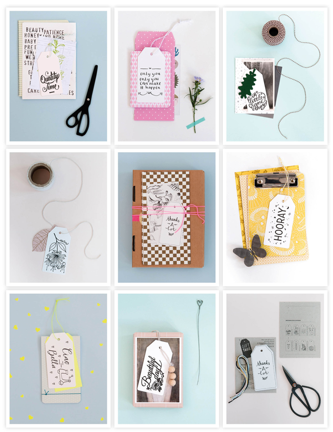 Handwritten gifttags Overview - 100 dpi