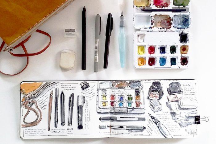 Karlijn vd Wier workshops Draw your journal HappyMakersBlog
