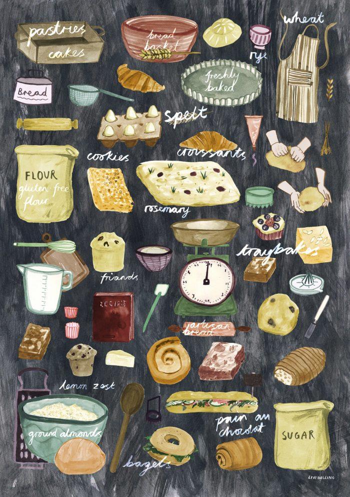 Livi Gosling illustration bakergoods HappyMakersBlog